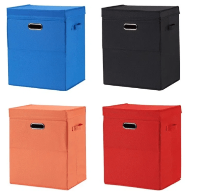 Mainstays Front Loading Stackable Large Laundry Hamper with Lid for $7.30 (Reg $14.59)
