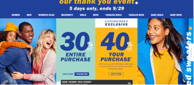 Old Navy : Sale!!