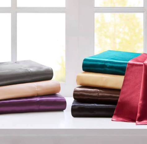 Satin Wrinkle-Free Luxurious 6-Piece Sheet Set for $15.99 (reg: $79.99)