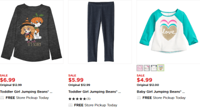 Kohl's : Jumping Beans Clothing From $4.99!!