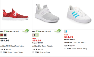 Kohl's : UP TO 50% OFF ADIDAS SHOES !!