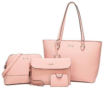 Amazon : 4 Pcs Women Fashion Handbags Just $28.07 W/Lightening Deal + 10% Off Coupon (Reg : $39.99) (As of 9/18/2019 11.45 AM CDT)