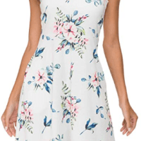 Amazon :  Women's Summer Floral Halter Neck Casual Sundress with Pockets Just $6.99-$9.09 W/Code (Reg : $19.99-$25.99) (As of 9/16/2019 11.47 AM CDT)
