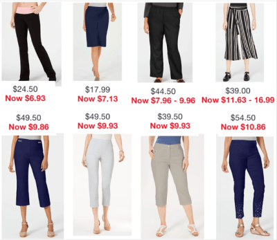 Macy's : Women's bottoms clearance !!!