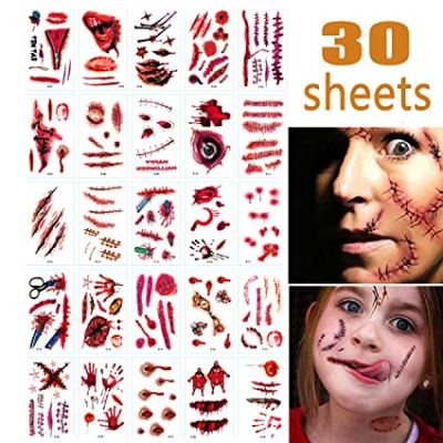 30 Sheet Halloween Zombie Makeup Kit Decoration for Kids for $4.98 w/code
