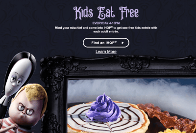 FREE Kids Meal w/ Adult Entree Purchase