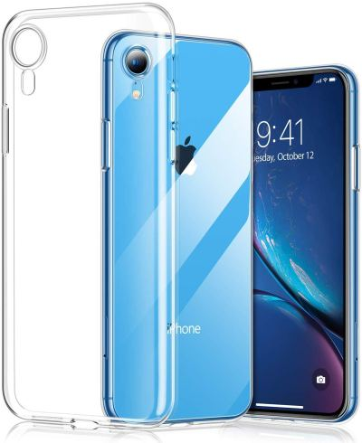iPhone XR Case, Clear Shockproof Anti-Scratch Shock Absorption Cover Case for $5.40 w/code