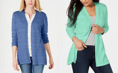 Up to 72% Off Karen Scott Cardigans at Macy's (Starting at ONLY $13.99)