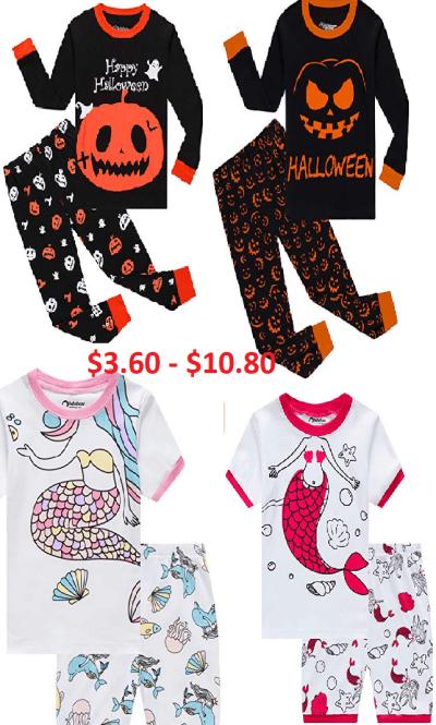 Little Boys & Girls Pajamas 100% Cotton Sleepwear from $3.60 - $10.80 w/code