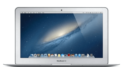 Refurbished Apple MacBook Air 11.6″ Laptop – Core i5 1.3 GHz, 4GB RAM, 128GB SSD for $379.87 (Reg $999.99)