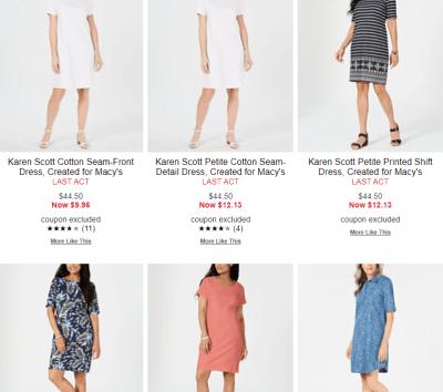 Macy's Dress Sale - Last ACT deals