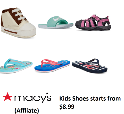 Macy's Kids Shoes starts from $8.99