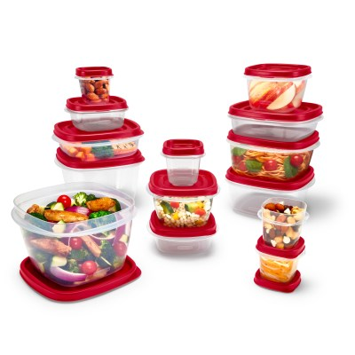 Rubbermaid Easy Find Vented Lids Food Storage Containers, 24-Piece Set Plus Bonus, Racer Red for $6.99 (reg: $14.98)