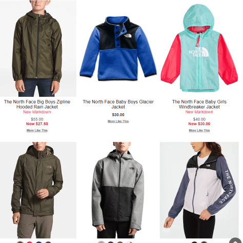 Upto 60% Off NorthFace Jacket on Macy's