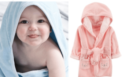 Carter's Baby Hooded Robe JUST $9.60 (Regularly $24) – Choose from Pink & Blue!