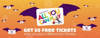 Chuck E Cheese's – 50 Free Tickets For Kids In Costume