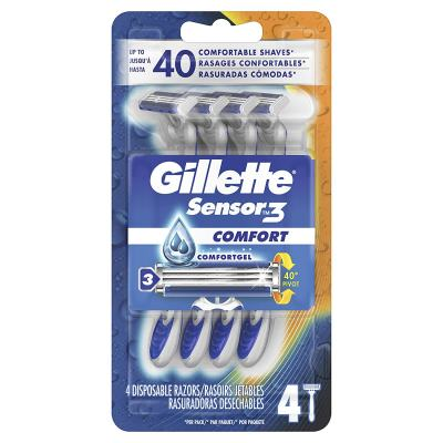 Gillette Sensor3 Smooth Shave Disposable Razor, 4 Count for $1.49 with $3 coupon clip