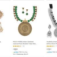 Amazon : Indian Jewelry Just (As of 10/20/2019 10.22 AM CDT)