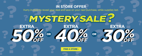 JCPenney: 30% - 50% Off Your Purchase (Mystery Coupon Giveaway Till Oct 20th)