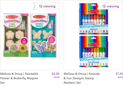 Zulily : Melissa & Doug up to 30% off!!