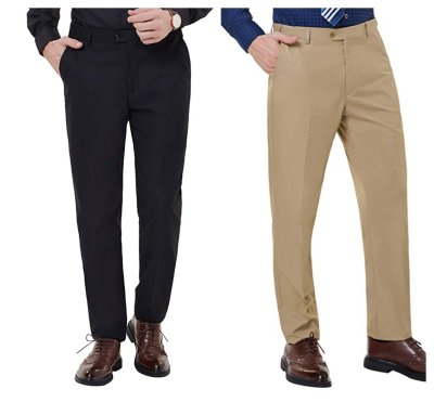 Men's Classic Straight Fit Wrinkle-Free Dress Pant for $9 w/code