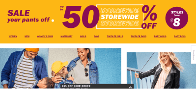 Old Navy : Up to 50% off storewide at Old Navy plus an additional 25% off your order at checkout!!