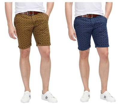 PAUL JONES Mens Shorts Flat Front Printed Pattern for $5.50 w/code