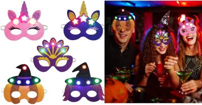 Amazon: Party Masks for Kids, 5PCS Light up Felt Masks for Kids w/ Elastic Cords $5.99 (Reg: $12) w/code