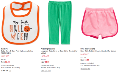 Macy's : Kids Apparel Clearance From $2.56 (Up To 80% Off)
