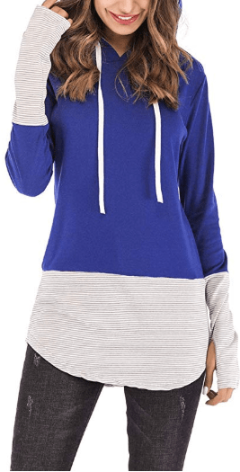 Amazon : Women's Casual Long Sleeve Striped Hoodie Tops Just $7.59 W/Code + 5% Off Coupon (Reg : $20.98) (As of 10/12/2019 5.59 PM CDT)