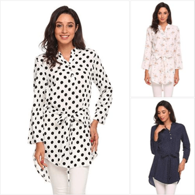 Amazon : Women's Long Sleeve Floral Print Blouse Just $11.49 W/Code (Reg : $22.99) (As of 10/23/2019 6.15 PM CDT)