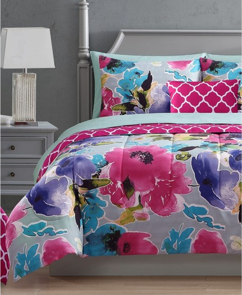 Hallmart Collectibles Ada 12-Pc. Reversible Comforter Sets for $49.99 (Reg $120)