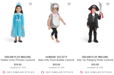 TJMaxx : Halloween Costume Sale!