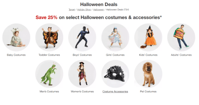 Halloween Costumes, Accessories & Makeup 25% Off at Target – From ONLY $1.50!