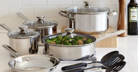 Cooks 21-Piece Stainless Steel Cookware Set Just $24.99 After JCPenney Rebate (Regularly $100)