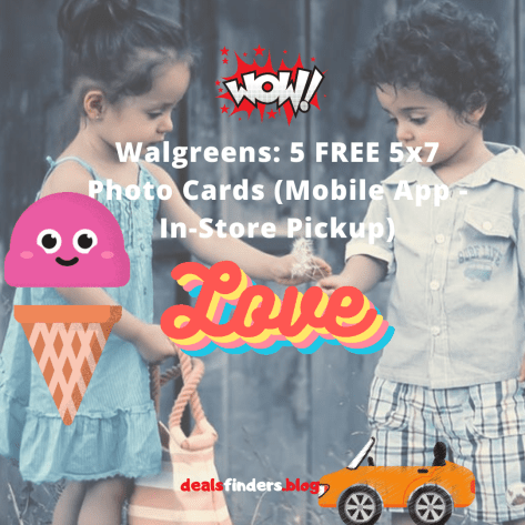 Walgreens: 5 FREE 5x7 Photo Cards (Mobile App - In-Store Pickup)