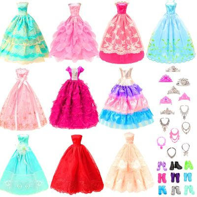 Amazon : 10 Pcs Dresses with 17 Accessories Handmade Doll Clothes Just $7.99 W/Code (Reg : $15.99) (As of 11/22/2019 5.25 AM CST)