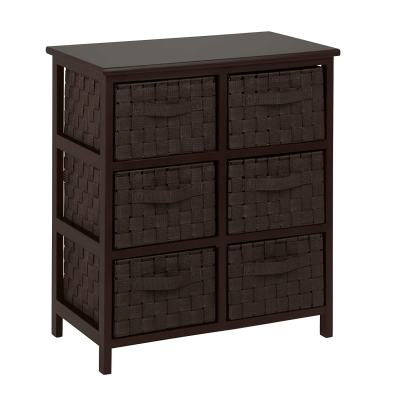 Amazon : 6-Drawer Storage Chest with Woven-Strap Fabric, Espresso, 24-Inch Just $70.47 W/$5.52 Off Coupon (Reg : $149.99) (As of 11/18/2019 6.27 PM CST)
