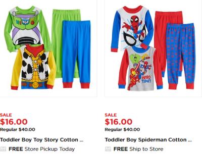 Kohl's : 60% Off Character Pajamas !!