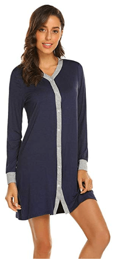 Amazon : Button Down Nightgown Just $8.40 W/Code (Reg : $20.99) (As of 11/21/2019 7.35 AM CST)