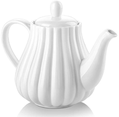 Amazon : Ceramic Teapot, Pumpkin Shape, 30 Ounces Tea Pot, White Just $6.47 W/Code + 30% Off Coupon (Reg : $17.99) (As of 11/11/2019 7.57 AM CST)