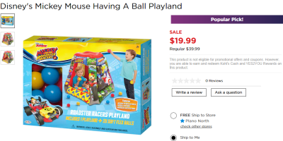 Kohl's : Disney's Mickey Mouse Having A Ball Playland $19.99 (Reg $39.99)