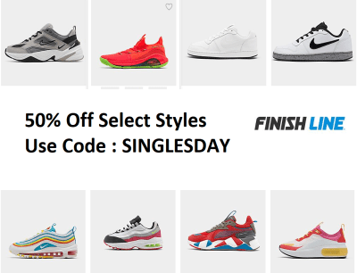 50% Off Select Styles at Finish Line (As low as $5)