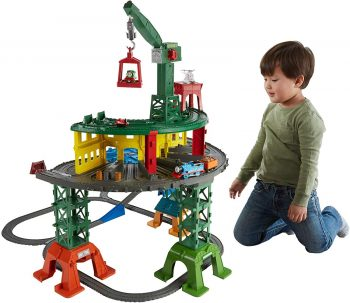 Hurry on over to Amazon and grab this Fisher-Price Thomas & Friends Super Station for ONLY $39.99 shipped (reg. $99.99)!  Works with Thomas & Friends Adventures, TrackMaster, MINIS and Wooden Railway engines (additional engines sold separately) Comes with Thomas & Friends TrackMaster Thomas, and his friends Thomas & Friends Adventures Percy, Thomas & Friends MINIS James, plastic Harold Multiple configurations of layouts to fit into any space Remove legs for Micro layouts to fit small spaces Holds over 100 engines (sold separately and subject to availability)