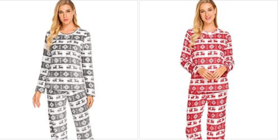 Amazon : Flannel Santa Pajama Set Just $11.49 W/Code (Reg : $22.99) (As of 11/11/2019 8.26 PM CST)
