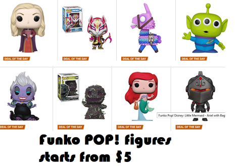 Funko POP! figures starts from $5