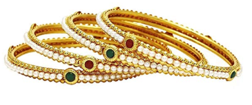 Amazon : Gold Tone Polki Indian Partywear Bangles Just $9.99 (As of 11/13/2019 12.31 PM CST)