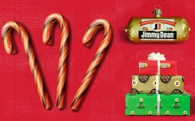 While supplies last, Jimmy Dean is offering a FREE Holiday Gift (Glass Sausage Ornament, Candy Canes or Sausage-Scented Wrapping Paper) when you upload a photo of a meal that you've prepared with their products. Simply click here then enter your info and choose the gift you'd like!