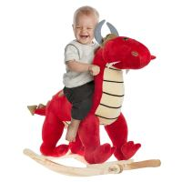 Amazon : Kids Ride On Plush Stuffed Dragon On Wooden Rockers with Handles Just $16.95 (Reg : $41.95) (As of 11/18/2019 8.16 PM CST)