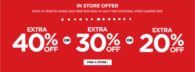 Up to 40% Off Entire JCPenney Purchase w/ Mystery Coupon Giveaway!